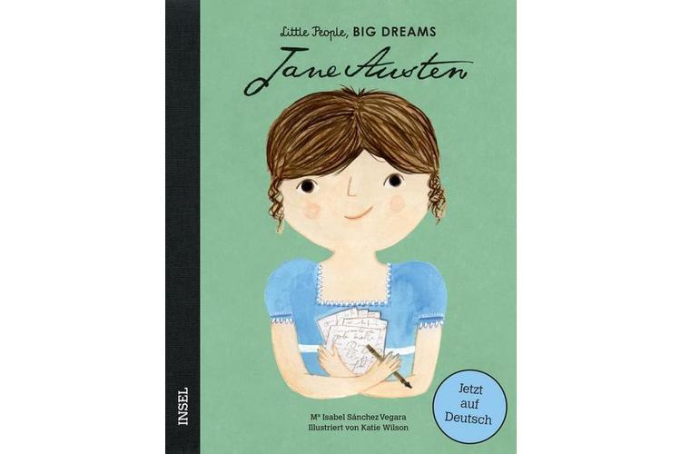 Isabel Sánchez Vegara: Jane Austen, 32 S. Insel Verlag, 2019 (Auf Deutsch erscheint das Buch Ende September 2019), ca. 24 Fr.