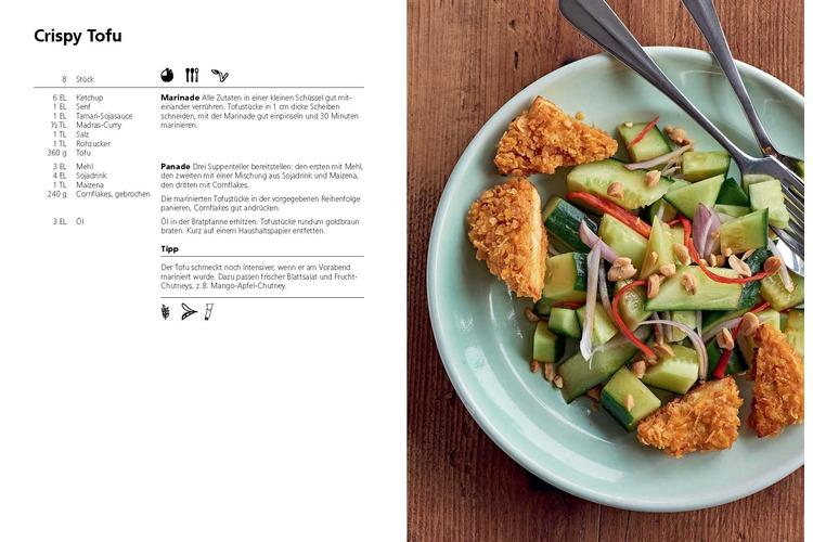 Crispy Tofu, Gemüse Paella und veganes Züri-Geschnetzeltes. Die drei Lieblingsgerichte der Jugendlichen können Sie hier als PDF kostenlos herunterladen.