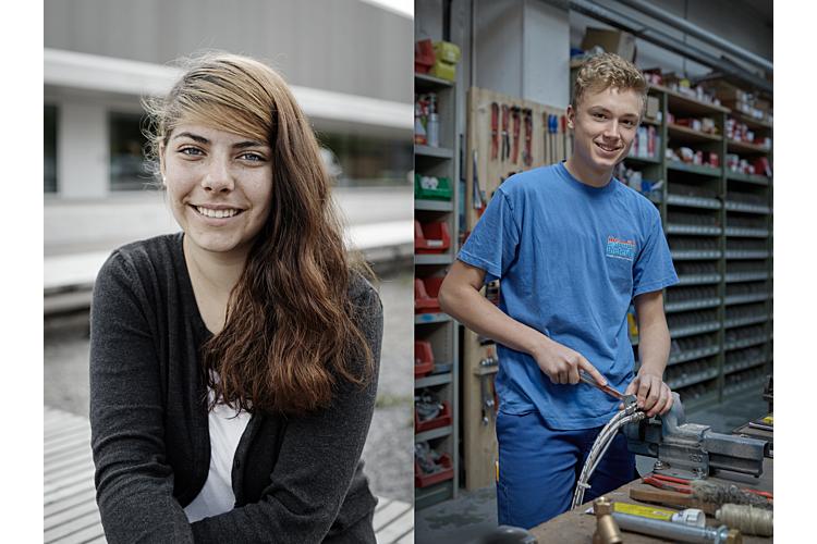 Shayna und Steven sind zwei von 3000 Jugendlichen in der Schweiz, die an einem von LIFT vermittelten Arbeitsplatz tätig sind.