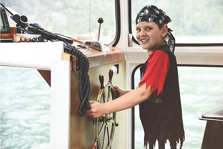 Pirat auf dem Lago di Poschiavo