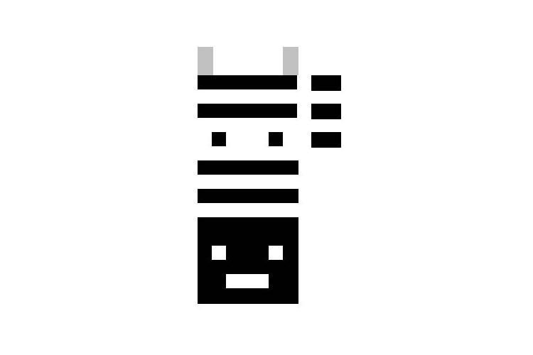 6/6 ... oder ein Zebra; programmiert von einem Schüler.