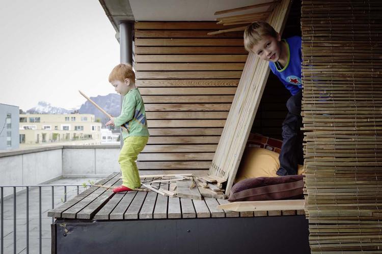 1/ 5 Die Familie Häller zog den Kindern zuliebe vom Land in eine Genossenschaftssiedlung in Luzern.
