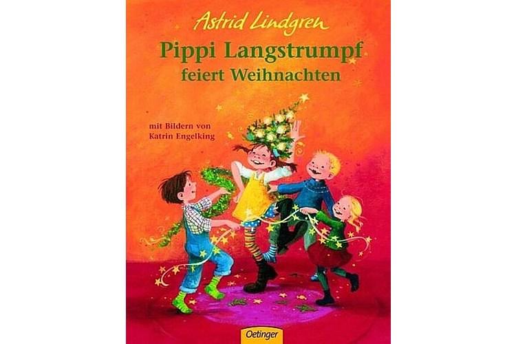 Astrid Lindgren: Pippi Langstrumpf feiert Weihnachten. Oetinger, 2004. 24 Seiten, ca. 18 Franken. Altersempfehlung: 3-6 Jahre