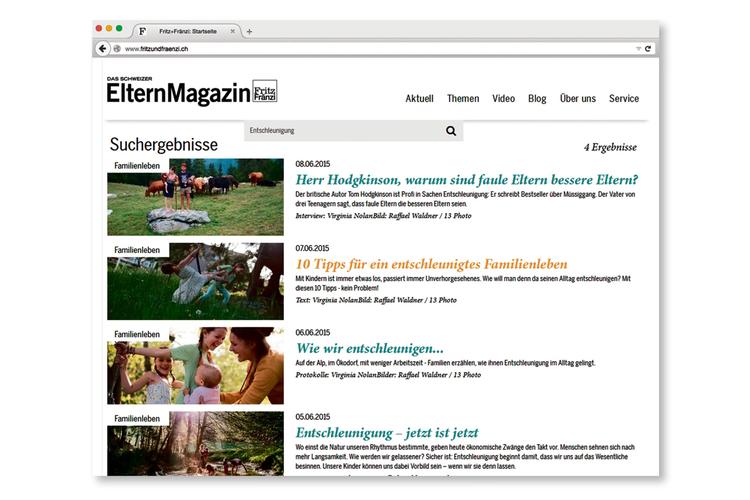 5/9 In der Suchfunktion können Sie jederzeit auf hunderte Artikel und Videos zugreifen.