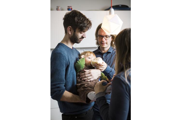 «Es war ein Glücksfall, die beiden Papas zu finden», schwärmt Sonja von Matthias und Marc.