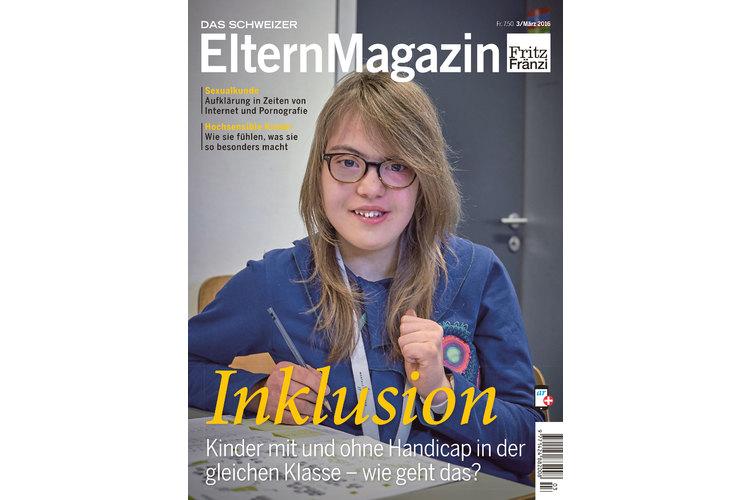 In der März-Ausgabe des ElternMagazins Fritz+Fränzi dreht sich alles um das Dossier-Thema «Inklusion». Einen ganzen Tag lang durften wir die 13-jährige Sophie aus Basel in ihrem Alltag in der Regelschule begleiten. Das Coverbild hat sie selbst ausgewählt.