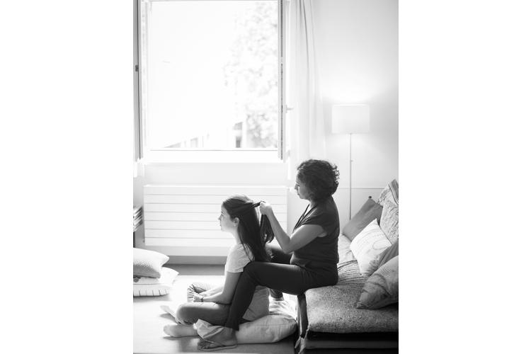 Seit acht Jahren verwitwet: Aparecida Hefti-Pinto, Tochter Anna-Sophia, 12.