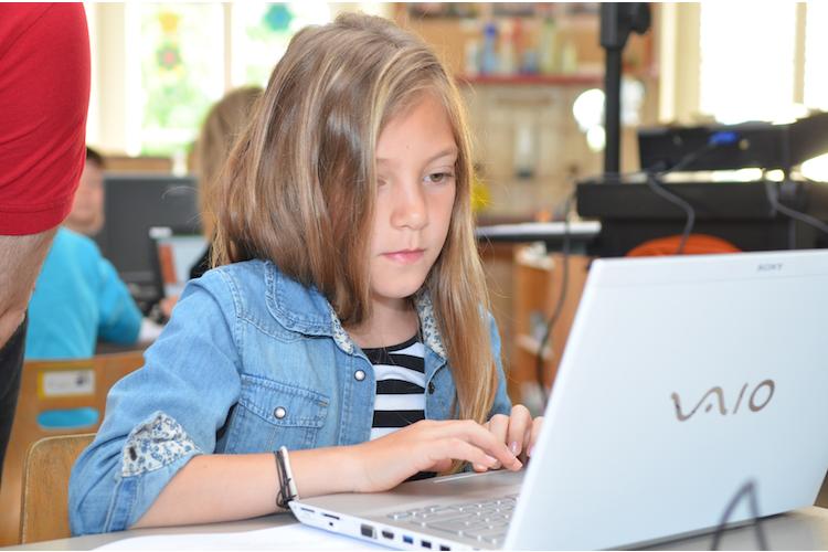 3/5 In der Programmiersprache LOGO können die Schüler in einer einfachen Umgebung schon nach 10 Minuten die ersten Programme schreiben.