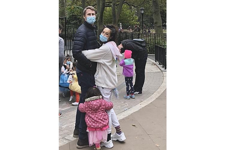 Ein Besuch im Centralpark - natürlich mit Maske.