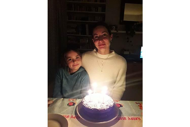 Bethia und ich an meinem 40. Geburtstag