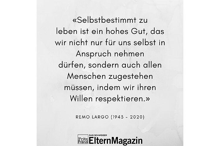 Aus: Remo H. Largo: Das passende Leben. Was unsere Individualität ausmacht und wie wir sie leben können. S. Fischer Verlag, 2. Auflage 2017, S. 369