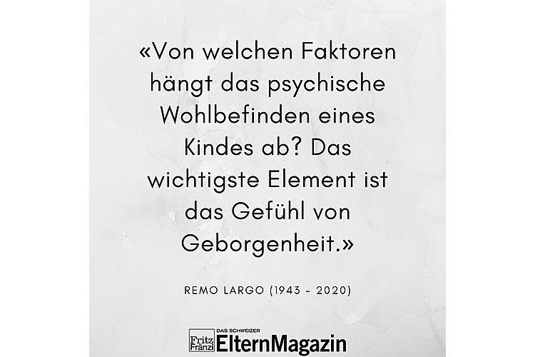Aus: Remo H. Largo: Babyjahre. Die frühkindliche Entwicklung aus biologischer Sicht. Das andere Erziehungsbuch. Piper Verlag München. 10. Auflage 2000, S. 19