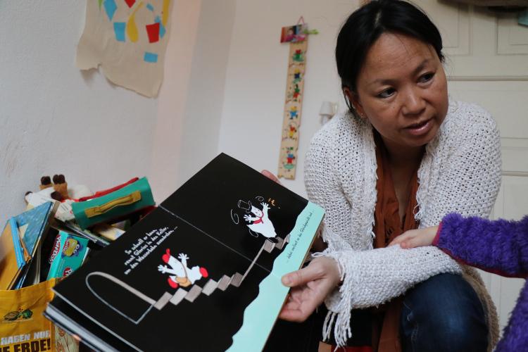 5/8 Um 16.30 Uhr ist Schluss mit Berufsleben, denn dann holt Sarah Fischer ihre Tochter aus dem Kindergarten.
