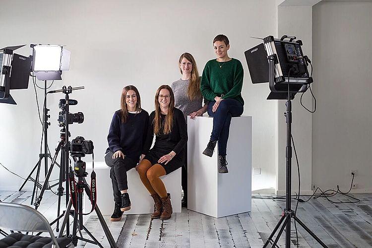 Team Tadah: Klara Zürcher, Diana Wick, Julia Bochanneck und Sarah Steiner