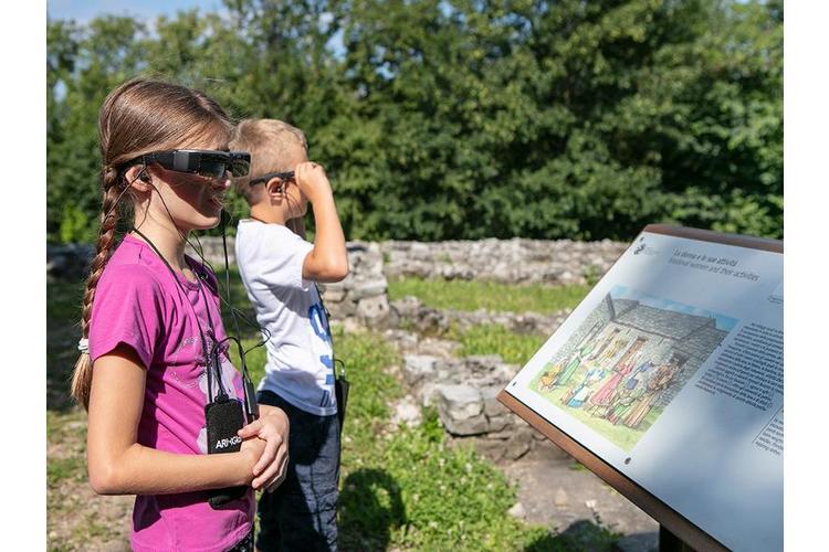 4/5 3D-Tour: Das Ruinendorf in Tremona am Monte San Giorgio war im Mittelalter ein florierender Handelsort.