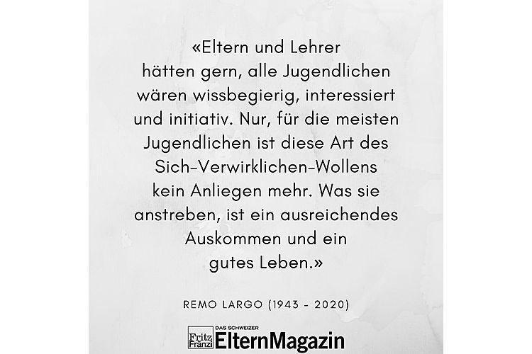 Aus: Remo H. Largo, Monika Czernin: Jugendjahre. Kinder durch die Pubertät begleiten. Piper Verlag München 2011, S. 180