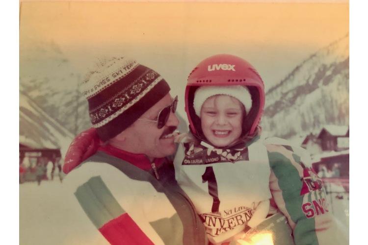 Mit Stolz erfüllt: mein erstes Skirennen.