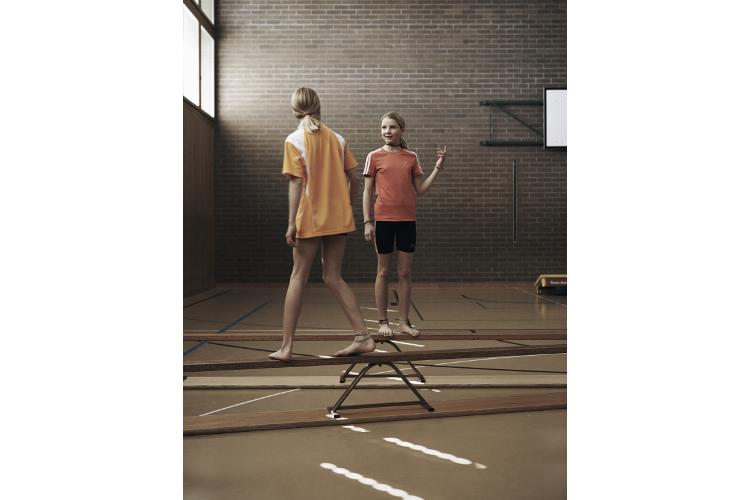 Immer in Bewegung: Lena (l.) und Lisa trainieren dreimal pro Woche.