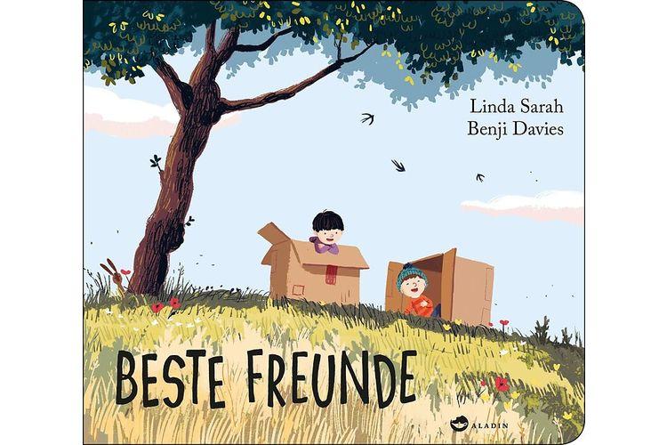 Linda Sarah, Benji Davies: Beste Freunde.Aladin 2018, 32 Seiten, ca. 19 Fr.Ben und Eddy sind beste Freunde und erleben die tollsten Abenteuer. Eines Tages will Sam auch mitspielen und mischt die Freundschaft auf.