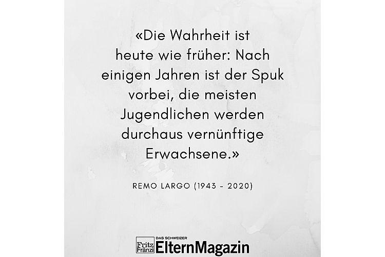 Aus: Remo H. Largo, Monika Czernin: Jugendjahre. Kinder durch die Pubertät begleiten. Piper Verlag München 2011, S. 192