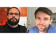 Die Brüder Julian (Illustrator, oben) und Timon (Autor) Meyer bringen gemeinsam Bücher auf den Markt.