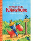 Ingo Siegner: Der kleine Drache Kokosnuss kommt in die Schule. cbj Verlag 2015, 72 Seiten, ca. 8 Fr. Der kleine Drache Kokosnuss ist furchtbar aufgeregt. Heute ist sein erster Tag in der Schule! Leider darf sein bester Freund nicht mit. Warum, wird in dieser Geschichteaus der beliebten Kinderbuchserie erzählt.