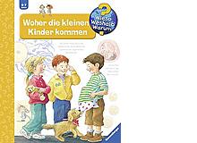 Woher die kleinen Kinder kommenAufklärungs-BilderbuchRavensburger 2001, 16 Seiten, Fr. 16.70